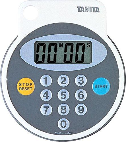 タニタ タイマー マグネット付き 防滴 100分 ホワイト 5342-WH
