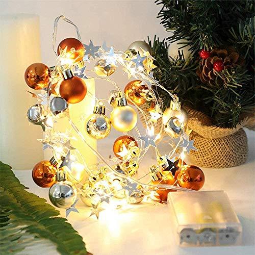 Lichtslingers voor buiten Kerstversiering Gekleurde lichten Knipperlichten Lichtslingers Sterrenhemel Kerstboomversiering Balhanger