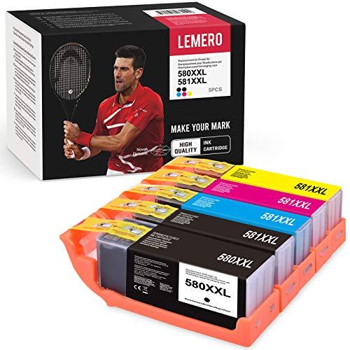 5 LEMERO 580XXL 581XXL Druckerpatronen Kompatibel für Canon 580 581 PGI-580 CLI-581 für Canon PIXMA TR8550 TS9550 TS6150 TS6250 TS8150 TS8250 TS6151 TR7550 TS6251 TS8151 TS8252 TS8250 TS8152 Drucker