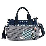 FTSUCQ Womens/Girls Canvas Polka Dot Shoulder Messenger Bags Handbags Casual Totes Bag Purse