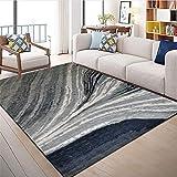 WQ-BBB Insonorizadas Dormitorios La Alfombra Estilo Abstracto de Moda alfombras pequeñas Gris Blanco Azul sin desvanecimiento sin Pelo Rug 80X120cm