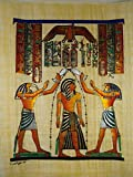 100% Authentic Egyptian Original Hand Painted Painting Papyrus Paper Pharaoh Ancient 12'x16' (30x40cm) King Ramses Carination Anubis Isis Cartouche Hieroglyphic Scroll History Papyri Hieroglyphics