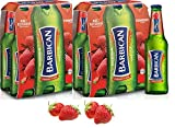 "Barbican Strawberry Flavor Malt Beverage "" Non Alcoholic "" Drink - Pack of 6 Glass Bottles x 2 Packs 330ML !"