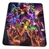 The Avengers Endgame Superhero Mouse Mat Pad Unique Custom Mousepad Computer Keyboard Stitched Edges Large Gaming Mouse Pats Office, Ideal for Desk Cover PC and Laptop 10x12 Inch
