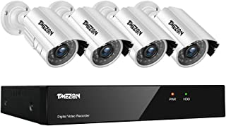 TMEZON 8CH HD 720P/1080N Video Security DVR System and (4) HD 1.0MP 1280TVL Surveillance Indoor Outdoor CCTV Cameras with ...