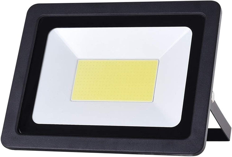 YROD LIGHT LED Flutlicht, Wasserdicht Sicherheit Dauerhaft Aluminium Gehrtetes Glas Auenlampe für Garten Fabrik (Farbe   Warmes weies Licht-50W)