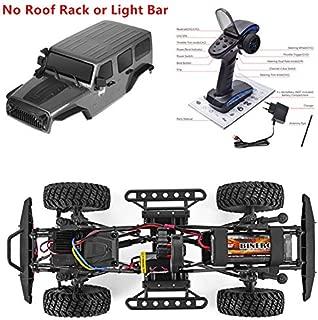 リモートコントロールカー、1:10 4WDトラック車リモートコントロール、オフロードモデル誕生日ギフト用のリモートコントロール車をクライミング (Color : Gray)