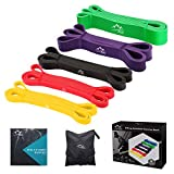 JDDZ SPORTS Pull up Resistance and Assist Bands, Workout Bands | Powerlifting Bands,Mobility Stretch Bands,Exercise Band for Body Fitness Training,Chin Ups, Stretch (Set of 5)