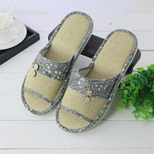 Zapatillas piscina Ducha grifo,Zapatillas lino,sandalias piso interior verano fondo grueso,sandalias fondo tendón,Tobogán baño zapatillas adultos