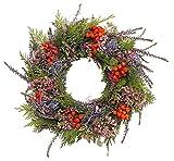 CreaFlor Home Herbstkranz Dekokranz Erika mit Beeren & Zweigen, rot grün Ø 30cm