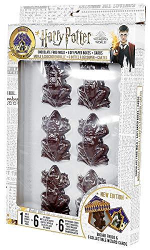 Cinereplicas Harry Potter - Molde Ranas de Chocolate + 6 Plantillas para Hacer Las Cajas + 12 Tarjeta de Magos - Nueva edición 2019