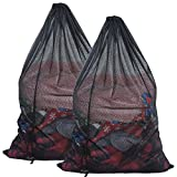 Senneny 2 Pack Mesh Laundry Bag 24 x 36 inches Large Sturdy Mesh Wash Bags Heavy Duty Draw...