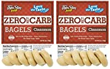 ThinSlim Foods Keto Food Bagels | Keto Bread or Keto Snack Breakfast Alternative | Low Carb Cinnamon, 2 Pack (6 Diet Bagels Per Keto Friendly Food Pack)