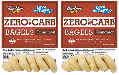 ThinSlim Foods Keto Low Carb Bagels - Cinnamon, 2 Pack (6 Bagels Each)