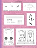 """Quad Ruled 5x5 Graph Paper Notebook: 9.75 in. x 7.5 in (9 3/4"""" x 7 1/2""""), 100 pages, 5 squares per inch, with electronics theme cover (pink fabric pattern)"""