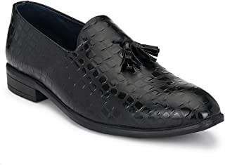 Park Avenue Solid Black Coloured Synthetic Men's Formal Shoes