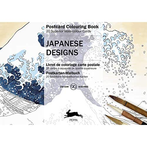 PC Japanese Designs: postcard colouring book