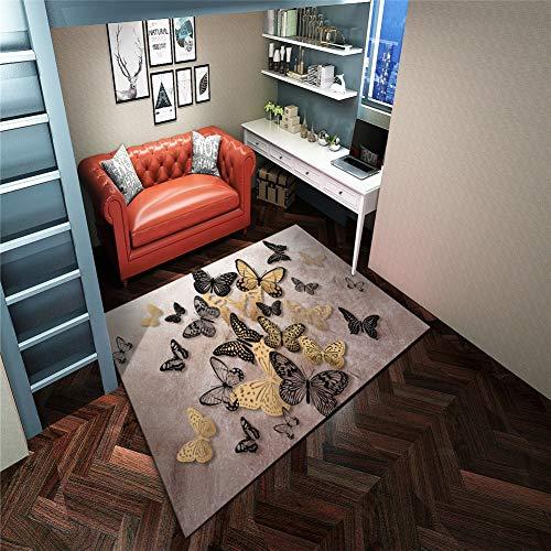 Ollhei Designer Tapis Moderne 3D Enfants hôtel Simple Maison Salon Chambre sur la Taille antidérapante Lavable Sol Tapis de Yoga Maison decorationrx-150X200cm