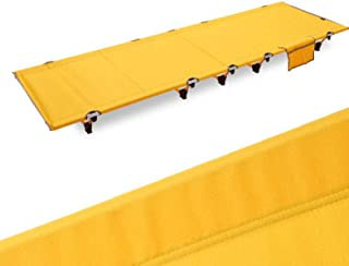 OutdoorLightweight Lit Pliant Portable Camping Déjeuner Lit Simple Loisirs-Kaki (Color : Yellow)