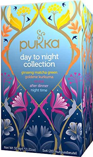 Pukka Bio-Tee Day to Night Collection, 80 Teebeutel, 4er Pack (4 x 20 Stück) …