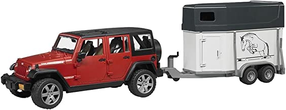 Bruder Jeep Wrangler Unlimited Rubicon with Horse Trailer and Horse