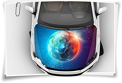 Medianlux Weltall Erde Planet Universum Motorhaube Auto-Aufkleber Steinschlag-Schutz-Folie Airbrush Tuning Car-Wrapping Luftkanalfolie Digitaldruck
