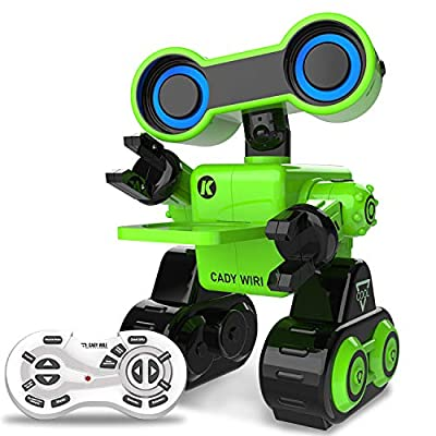HBUDS Robot Toy, Remote Control Toy Robot, Programmable, Touch Sensing STEM Educational Robot Toy with Interactive Feature to Walk, Dance, Sing,Explore, Provide Science Lectures RC Robot for Kids ...