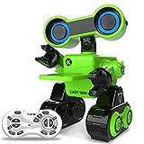 Roboter-Spielzeug intelligente Sprachsteuerung, programmierbar, Berührungssensor STEM-Roboter-Lernspielzeug mit interaktiver Funktion zum Gehen, Singen, Erkunden, wissenschaftlichen Vorträgen (Grün)