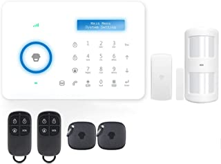 Sazoley A11 315MHz Wireless Auto-dial PSTN Alarm Security System LCD/RFID Touch Keypad PIR Motion Sensor Door Sensor Remot...