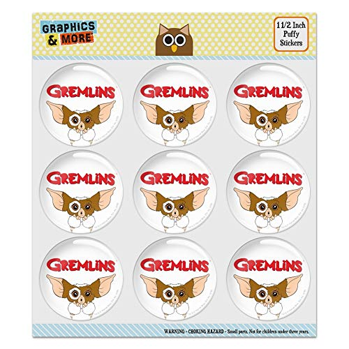 Gremlins Gizmo Logo Puffy Bubble Dome Scrapbooking Crafting Sticker Set 1.5 Inch Stickers multi