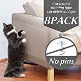 Nexsol Cat Couch Protector, Double Sided Clear Anti-Scratch Cat Deterrent Training Tape, 8