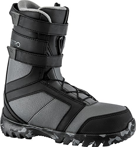Nitro Snowboards Kinder Rover Youth ELS'18 Snowboard Boot, Black-Charcoal, 21