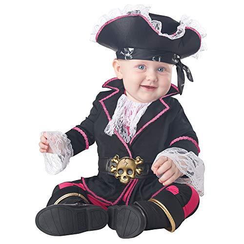 Infant Cap'n Cuddlebug Pirate Costume Size 6-12 Months Black