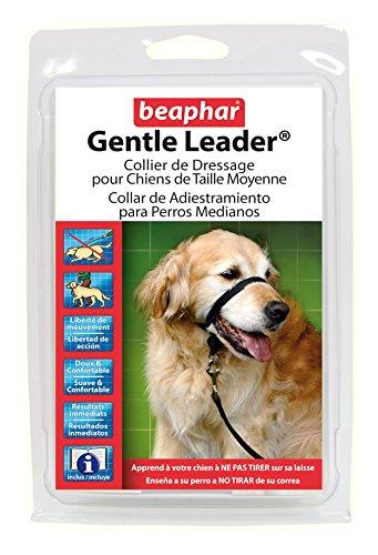 Perky-Pet Beaphar Gentle Leader Dressurhalsband für mittelgroße Hunde, Schwarz