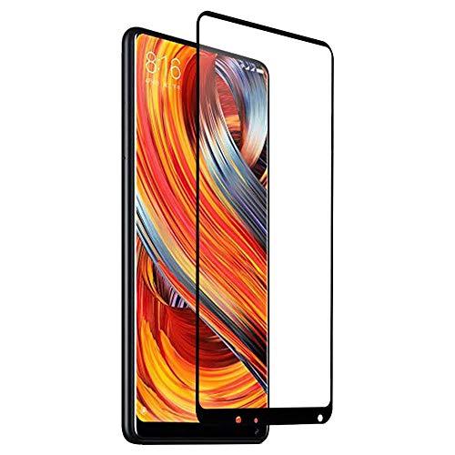 J&H [Pacote com 3] Película de vidro temperado Xiaomi Mi Mix 2 – Protetor de tela transparente com cobertura total para Xiaomi Mi Mix 2 [Preto]