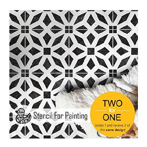 15,2 x 15,2 cm stile marocchino Stencil a forma di pois