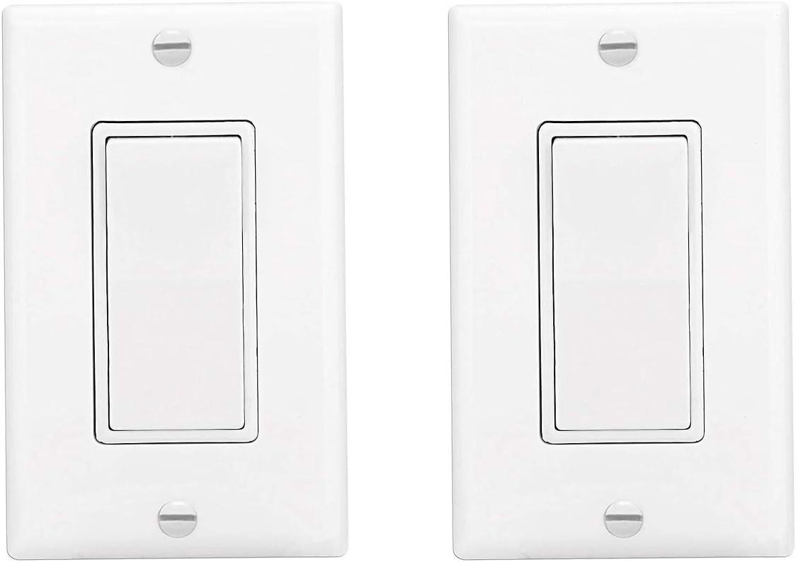 Decora Rocker Single-Pole Light Switch Ranking Genuine TOP1 with WallPlate Amp 15 12