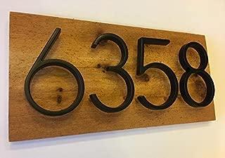 Rustic Wood Address Plaque - Modern, Rustic, Cedar Wood, Custom, House Numbers, Address Sign, Top Quality, Best Seller, Housewarming Gift,