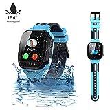 Jaybest Kinder Smartwatch,wasserdichte Smart Watch für Kinder,Smart Watch Phone mit LBS Tracker SOS...