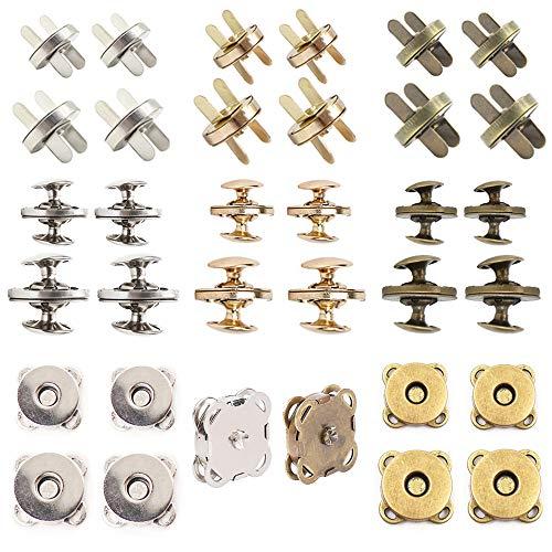 Aweisile magnetknopf 32 Sätze Magnet verschlüsse magnetverschluss Nähen Magnet Knopf Magnetische Knopf Magnetknöpfe Taschenverschluss magnetknopf für Taschen Tasche Geldtasche Rucksack 14mm und 18mm