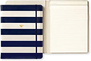 Kate Spade New York Women's Legal Notepad Folio (Navy Stripe)