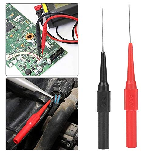 Biuzi Insulation Piercing Needle Insulation Needle Micro Pin Non-Destructive Multimeter Testing Probe,2pcs P5007