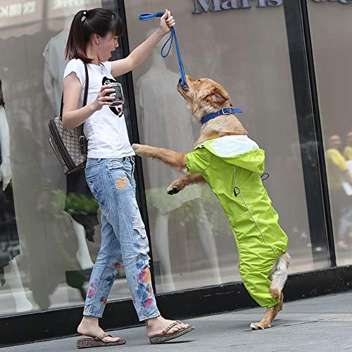 BOZHILIN hond kleding hond regenjas grote hond hond jas regenjas Labrador Poncho, L, Groen