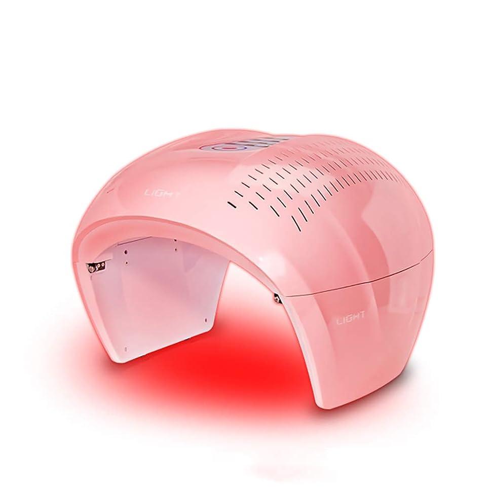 外交精度立法4色ledフェイシャルマスク療法ライトポータブルフォトンpdtにきび療法しわ除去アンチエイジング肌の若返りスキンケア美容機
