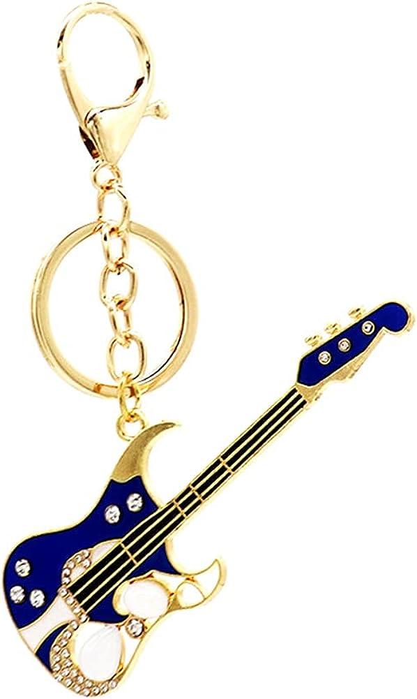Guitar Keyring for Men Women Guitar Player Music Keychian Lobster Clasp Keyrings for Key Handbag Accessories
