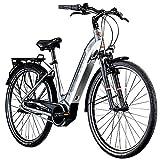 Zündapp Z905 700c E-Bike E Citybike 28 Zoll Pedelec Bosch Stadtrad Hollandrad (grau/weiß, 45 cm)