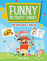 Funny activity pages for kids ages 6 and up: mazes, puzzle games, word search, coloring pages, dot-to-dot, find the differences, cut and glue, cross word