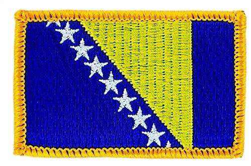 Applicatie om op te strijken, geborduurd met bosnie-heemse vlag
