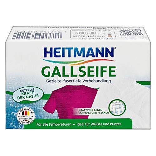 Heitmann Sapone di Bile: Rimedio casalingo a base di fiele, smacchiatore naturale per tessuti bianchi e colorati, 100g