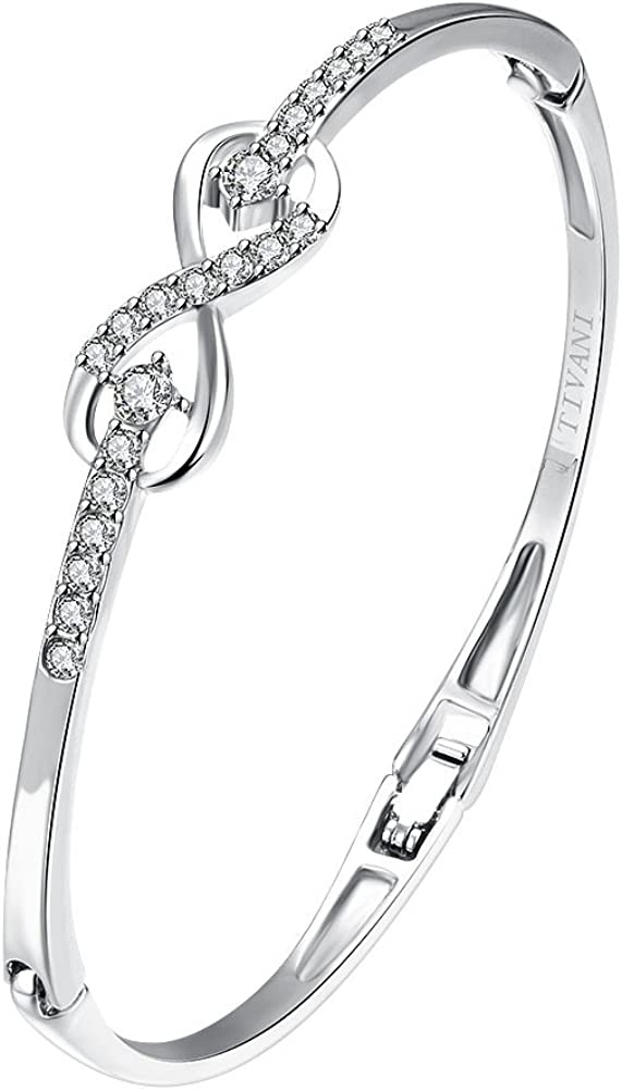 TIVANI Eternity Love Women's Quality inspection 925 Sterling Infini Max 76% OFF Silver Plated